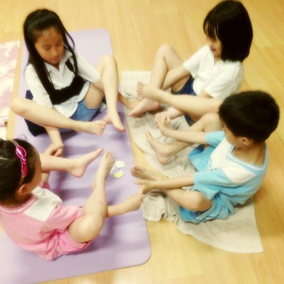 北投義方國小。兒童故事遊戲瑜伽